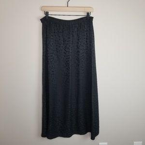 Eileen Fisher Black Silk Jacquard Maxi Skirt NWT